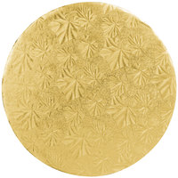 Enjay 1/4-10RG24 10 inch Fold-Under 1/4 inch Thick Gold Round Cake Drum - 24/Case