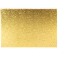 Enjay 1/4-17122512G12 25 1/2 inch x 17 1/2 inch Fold-Under 1/4 inch Thick Full Sheet Gold Cake Board - 12/Case