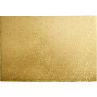 Enjay 1/4-17122512G 25 1/2 inch x 17 1/2 inch Fold-Under 1/4 inch Thick Full Sheet Gold Cake Board - 12/Case