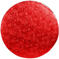 Enjay 1/2-12RRED12 12 inch Fold-Under 1/2 inch Thick Red Round Cake Drum - 12/Case
