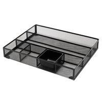 Universal UNV20021 15 inch x 11 7/8 inch x 2 1/2 inch Black Metal Mesh Drawer Organizer
