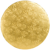 Enjay 1/4-12RG24 12 inch Fold-Under 1/4 inch Thick Gold Round Cake Drum - 24/Case