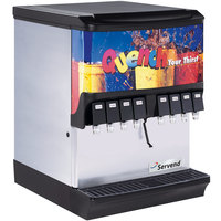 Servend 2705517 SV-175 8 Valve Push Button Countertop Ice/Beverage Dispenser with 175 lb. Ice Storage