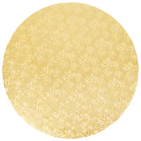 Enjay 1/2-20RG12 20 inch Fold-Under 1/2 inch Thick Gold Round Cake Drum - 12/Case