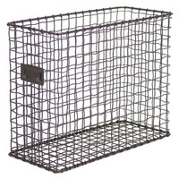 Universal UNV20064 6 inch x 13 5/8 inch x 10 1/8 inch Vintage Bronze Top Loading Wire Mesh File Holder