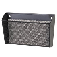 Universal UNV20026 13 3/8 inch x 3 inch x 13 inch Black Letter-Size Metal Mesh Single Pocket Wall File