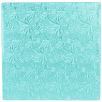 Enjay 1/2-10SBLUE12 10 inch Fold-Under 1/2 inch Thick Blue Square Cake Drum - 12/Case