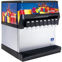 Servend 2705281 CEV-40 8 Valve Post-Mix Push Button Countertop Beverage Dispenser with Internal Carbonation System