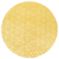 Enjay 1/2-16RG12 16 inch Fold-Under 1/2 inch Thick Gold Round Cake Drum - 12/Case