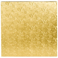 Enjay 1/2-14SG12 14 inch Fold-Under 1/2 inch Thick Gold Square Cake Drum - 12/Case