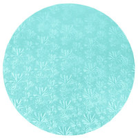Enjay 1/2-16RBLUE12 16 inch Fold-Under 1/2 inch Thick Blue Round Cake Drum - 12/Case