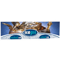 Servend 2706176 24 inch High icepic Extended Merchandising Sign