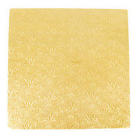 Enjay 1/2-20SG12 20 inch Fold-Under 1/2 inch Thick Gold Square Cake Drum - 12/Case