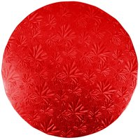 Enjay 1/2-10RRED12 10 inch Fold-Under 1/2 inch Thick Red Round Cake Drum - 12/Case