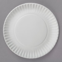 9 inch White Coated Paper Plate - 1000/Case