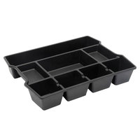Universal UNV20120 14 7/8 inch x 11 7/8 inch x 2 1/2 inch Black 8 Section Plastic High Capacity Drawer Organizer