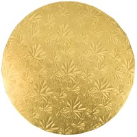 Enjay 1/2-10RG12 10 inch Fold-Under 1/2 inch Thick Gold Round Cake Drum   - 12/Case