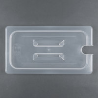 Cambro 30PPCH 1/3 Size Translucent Polypropylene Handled Lid with Spoon Notch