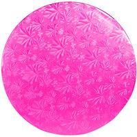 Enjay 1/2-12RPINK12 12 inch Pink Fold-Under 1/2 inch Thick Round Cake Drum - 12/Case