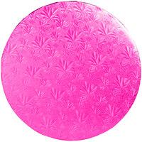 Enjay 1/2-14RPINK12 14 inch Fold-Under 1/2 inch Thick Pink Round Cake Drum - 12/Case