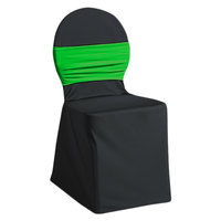 Snap Drape CCBND Silhouette II Lime Green Chair Cover Band