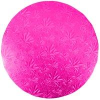 Enjay 1/2-10RPINK12 10 inch Fold-Under 1/2 inch Thick Pink Round Cake Drum   - 12/Case