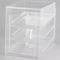 Cal-Mil 241-S Classic Three Tier Acrylic Display Case with Front and Rear Doors - 13 1/2 inch x 22 inch x 21 inch