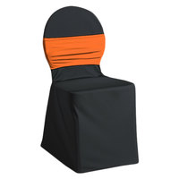 Snap Drape CCBND Silhouette II Mango Chair Cover Band