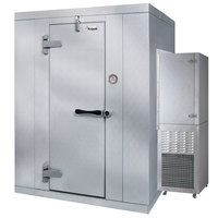 Kolpak PX6-064-CS-OA Polar Pak 6' x 4' x 6' Floorless Outdoor Walk-In Cooler with Wall-Mounted Refrigeration