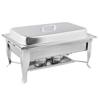 Choice 8 Qt. Folding Chafer with Stainless Steel Cover and Handle