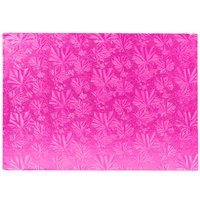 Enjay 1/2-9341334PINK12 13 3/4 inch x 9 3/4 Fold-Under 1/2 inch Thick Quarter Sheet Pink Cake Board - 12/Case