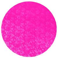 Enjay 1/2-16RPINK12 16 inch Fold-Under 1/2 inch Thick Pink Round Cake Drum - 12/Case