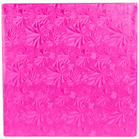 Enjay 1/2-10SPINK12 10 inch Fold-Under 1/2 inch Thick Pink Square Cake Drum - 12/Case
