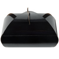 Enjay B-TULIPDOUBLEBLACK 8 inch x 4 inch x 5 inch Black Double Cupcake Tulip Box with Insert   - 100/Case