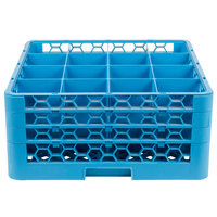 Carlisle RG16-314 OptiClean 16 Compartment Glass Rack with 3 Extenders