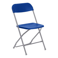 Lancaster Table & Seating Blue Textured and Contoured Folding Chair