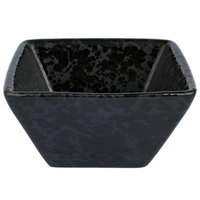 American Metalcraft PSBL3 3 oz. Black Artisanal Porcelain Square Sauce Cup