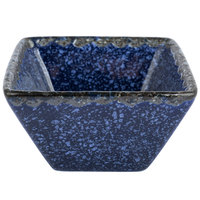 American Metalcraft PSBU2 2 oz. Blue Artisanal Porcelain Square Sauce Cup