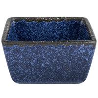 American Metalcraft PSBU 3 1/2 inch x 2 1/2 inch x 2 inch Blue Artisanal Porcelain Sugar Packet Holder
