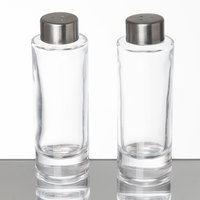 American Metalcraft GSPC Vintage Collection 2 oz. Smooth Round Glass Salt and Pepper Shaker Set