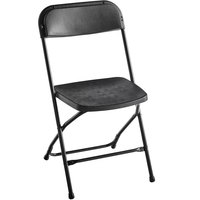 Lancaster Table & Seating Black Textured and Contoured Folding Chair