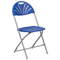 Flash Furniture LE-L-4-BL-GG Hercules Blue Plastic Fan Back Folding Chair