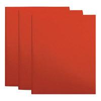 Universal UNV20543 Letter Size 2-Pocket Plastic Folder - Red   - 10/Pack