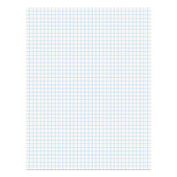 Universal UNV20631 8 1/2 inch x 11 3/4 inch White Economy Quadrille Ruled Writing Pad   - 12/Pack