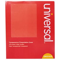 Universal UNV21010 8 1/2 inch x 11 inch Transparency / Presentation Cover   - 100/Pack