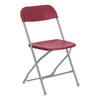 Lancaster Table & Seating Red Textured and Contoured Folding Chair