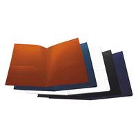 Universal UNV20545 Letter Size 2-Pocket Plastic Folder - Assorted Color   - 10/Pack
