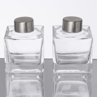 American Metalcraft GSPS Vintage Collection 2 oz. Smooth Square Glass Salt and Pepper Shaker Set
