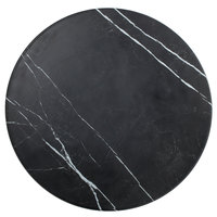 American Metalcraft MB21 21 1/2 inch x 1 1/8 inch Round Melamine Serving Board - Faux Black Marble