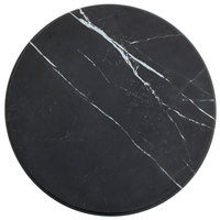 American Metalcraft MB14 14 inch x 1 1/8 inch Round Melamine Serving Board - Faux Black Marble